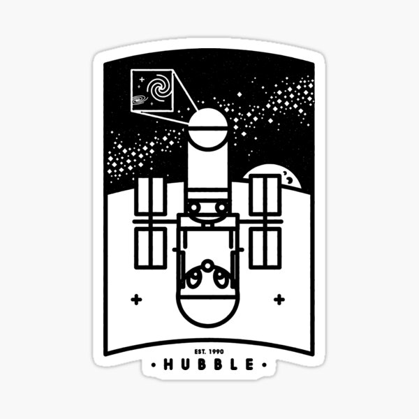 Hubble Sticker