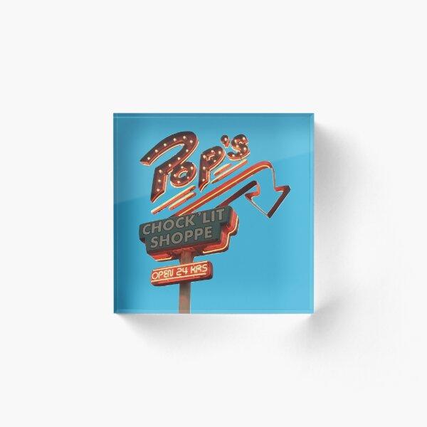 Pop's Chock'lit Shoppe Riverdale Acrylic Block