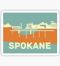 Spokane Cityscape Sticker