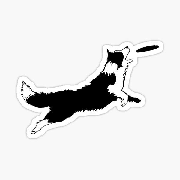 Dog Fetch Frisbee Border Collie Sticker
