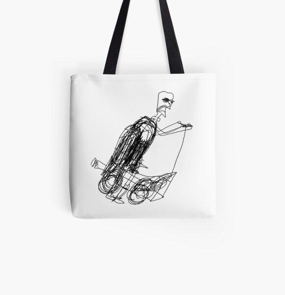 Bald Grandma Irene & Balloon Scooter All Over Print Tote Bag