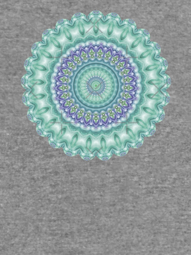 Bright Green and Purple Mandala of Balance by kellydietrich