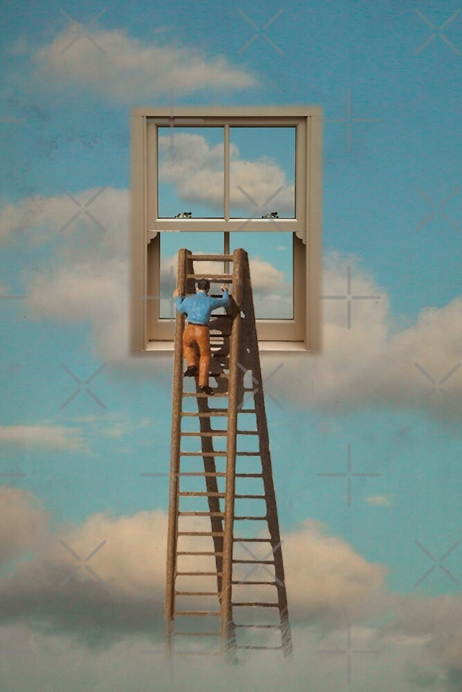 WINDOW CLEANER IN THE SKY by Vin  Zzep