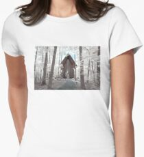 Anthony Chapel, Garvan Woodland Gardens - Infrared Women's Fitted T-Shirt