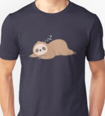 Kawaii Cute Lazy Sloth Unisex T-Shirt