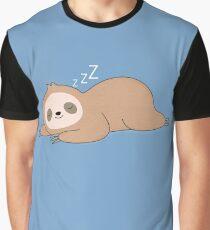 Kawaii Cute Lazy Sloth Graphic T-Shirt