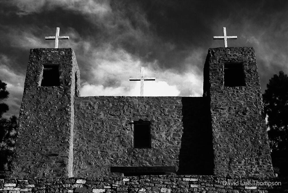 """Three Crosses of San Rafael"" by David Lee Thompson"