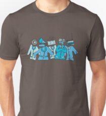 Camiseta ajustada Soldados analógicos (azul)