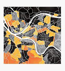 Pittsburgh Map Photographic Print