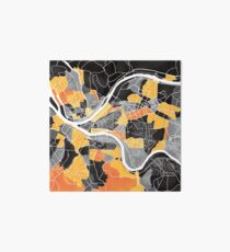 Pittsburgh Map Art Board