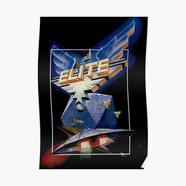 Diseño de juego retro Elite Póster