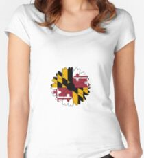 Maryland Black Eyed Susan Women's Fitted Scoop T-Shirt