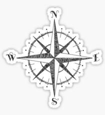 Compass Rose Sticker