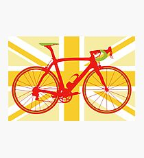 Bike Flag United Kingdom (Yellow) (Big - Highlight) Photographic Print
