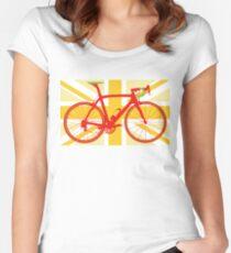 Bike Flag United Kingdom (Yellow) (Big - Highlight) Women's Fitted Scoop T-Shirt