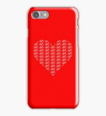 Bike Heart (Red-White) (Small) iPhone Case/Skin