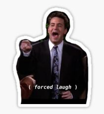chandler work laugh Sticker