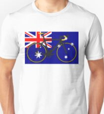 Bike Flag Australia (Big - Highlight) T-Shirt