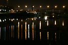 Yarkon river Tel Aviv Israel at night by Moshe Cohen