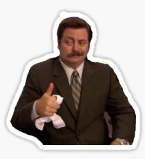 ron thumbs up Sticker