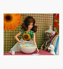 Barbie Doll Cooking Photographic Print
