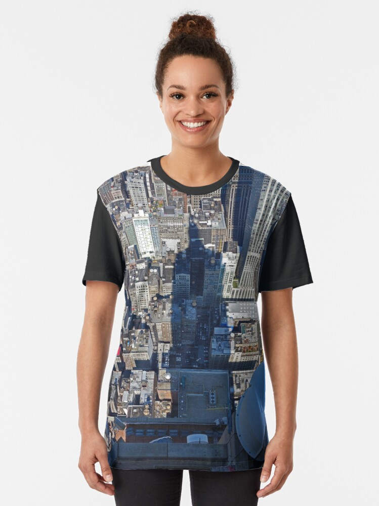 Alternate view of View from the Empire State Building, New York. Graphic T-Shirt
