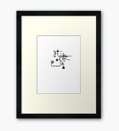 It is all connected - the Life Circuit board Framed Print