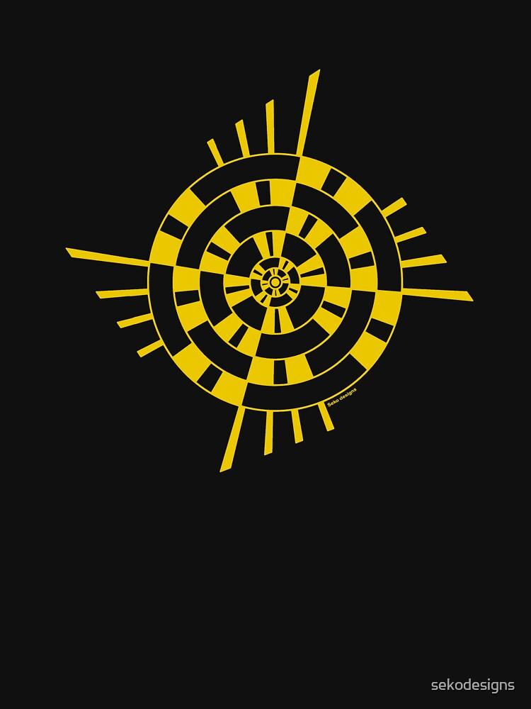 Mandala 1 Yellow Fever  by sekodesigns