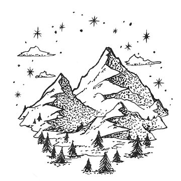 """The Great Outdoors"" Mountain Graphic by axialdesigns"