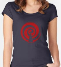 Mandala 9 Colour Me Red Women's Fitted Scoop T-Shirt
