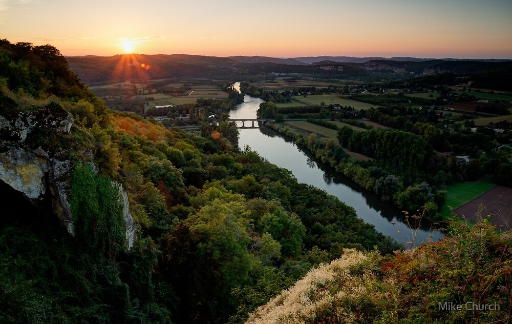 Sunset over the Dordogne by Mike Church