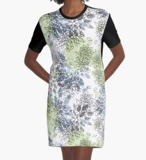 Abstract flowers .16  Graphic T-Shirt Dress