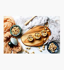 Nuts with honey, dessert Photographic Print