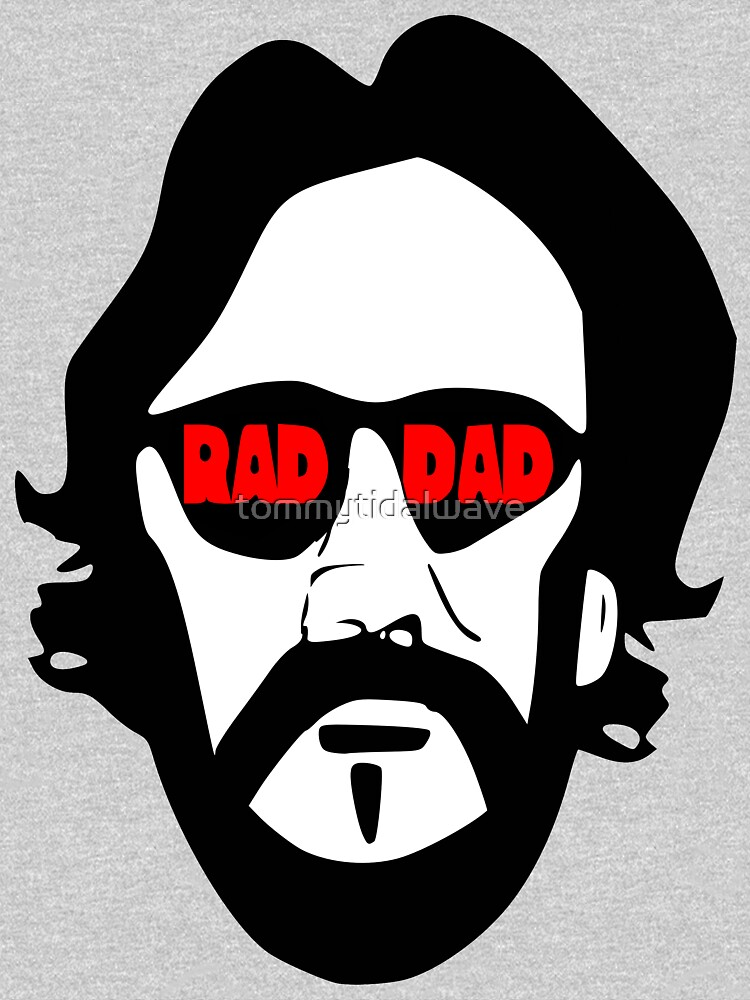 Father's Day- Rad Dad Cool Biker  by tommytidalwave