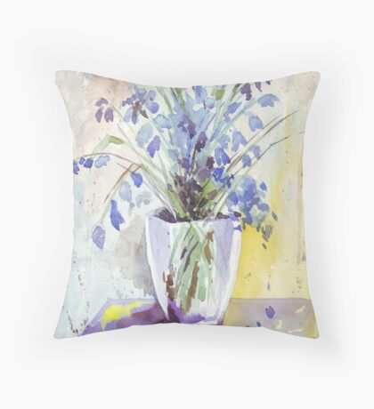 The Bluebell is the sweetest flower Throw Pillow