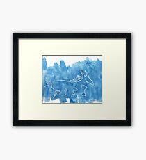 Blue Horse Framed Print