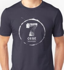 7 cent logo in white Unisex T-Shirt