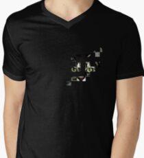 cat checkers 3 Men's V-Neck T-Shirt