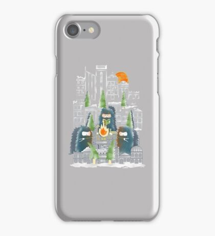 Camping in the City iPhone Case/Skin