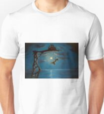 Tiny Castle Big World painting by Johnny Lonzo Blaylock T-Shirt