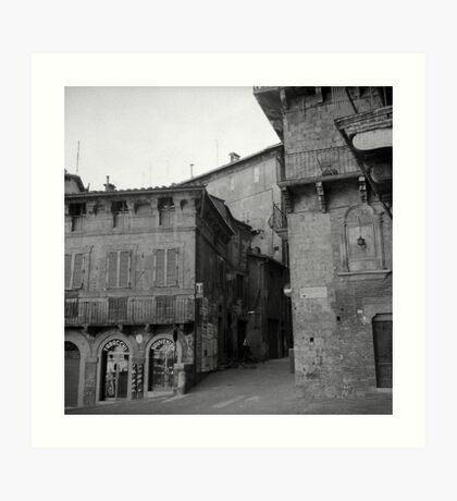 Street corner Siena Art Print