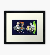 Rick and Morty Meet Doc and Marty Framed Print