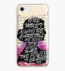 Words have the power to change us iPhone Case/Skin