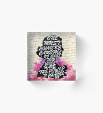 Words have the power to change us Acrylic Block