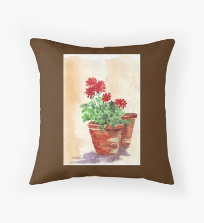 Geranium or Pelargonium? Throw Pillow