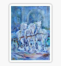 Horses Stepping Out - Art Gallery 29 Sticker