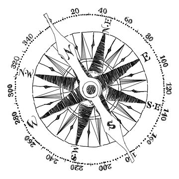 """Northward"" Compass Graphic by axialdesigns"
