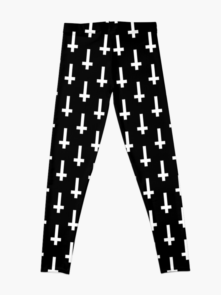 Alternate view of upside down cross Leggings