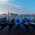 Venice - water, gondolas, churches, towers. by Mark Baldwyn