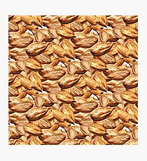 Pattern with almonds Photographic Print